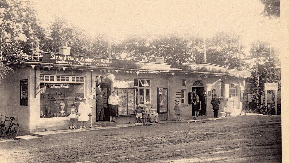 Anfang der 30er Jahre Post und Badebüro