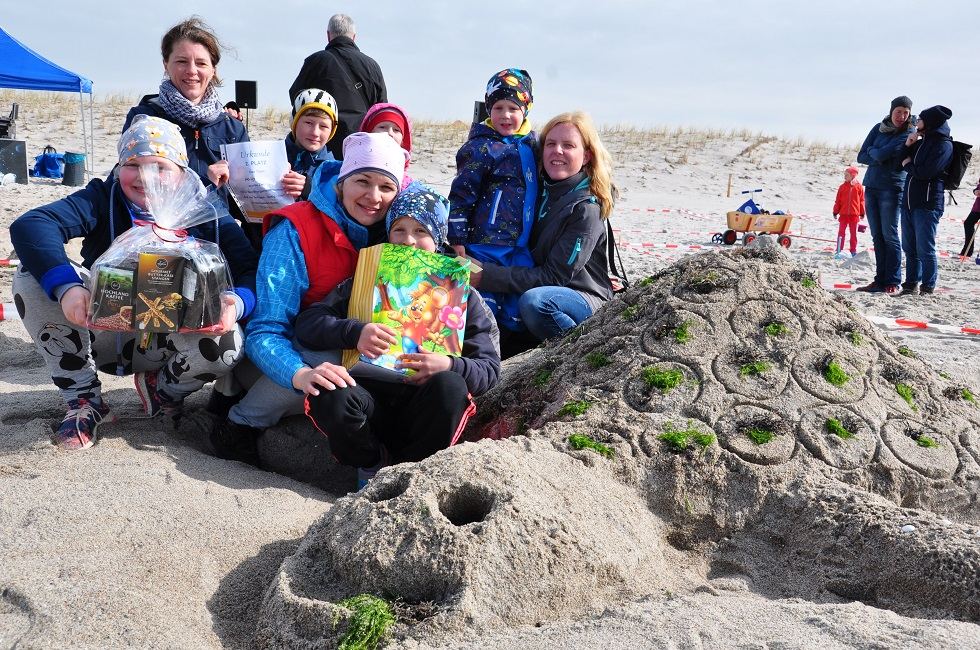 Schidkröten aus Sand