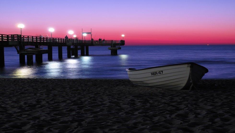 Seebrücke am Abend